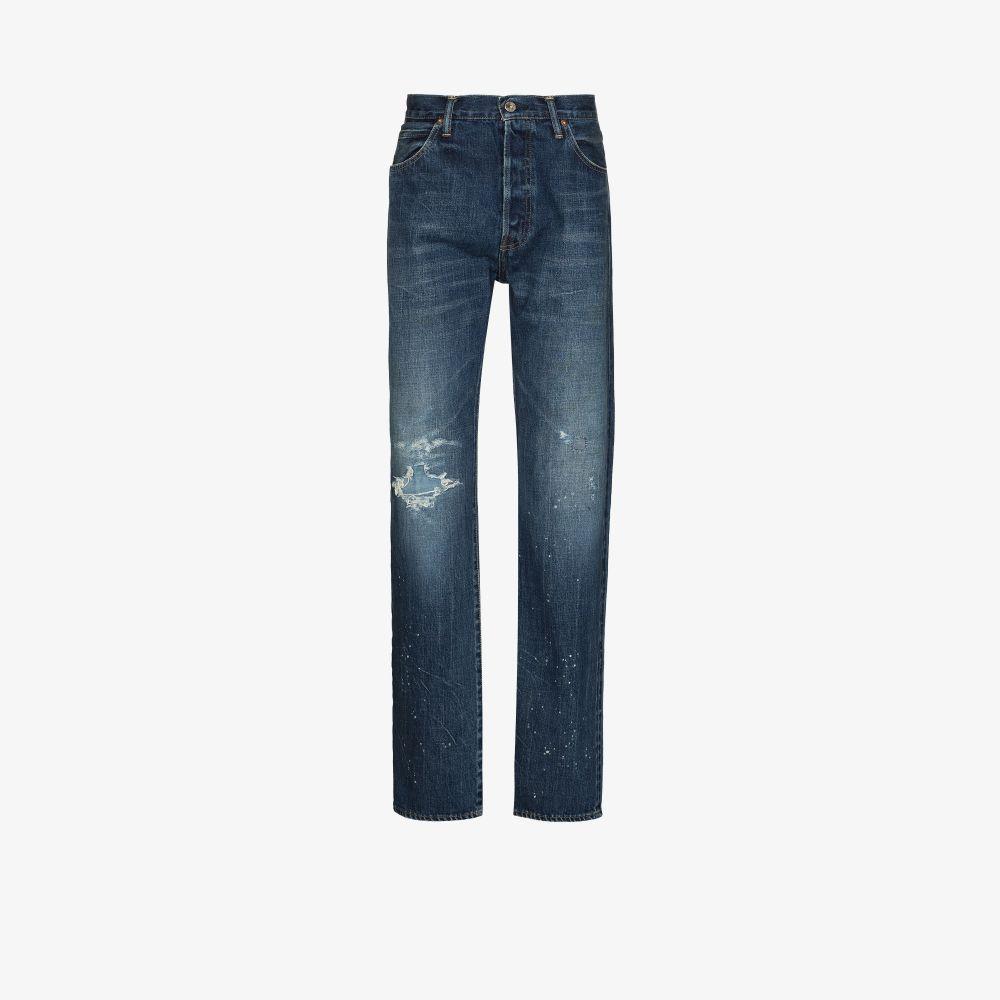 Conscious Deadstock Distressed Paint Splatter Jeans