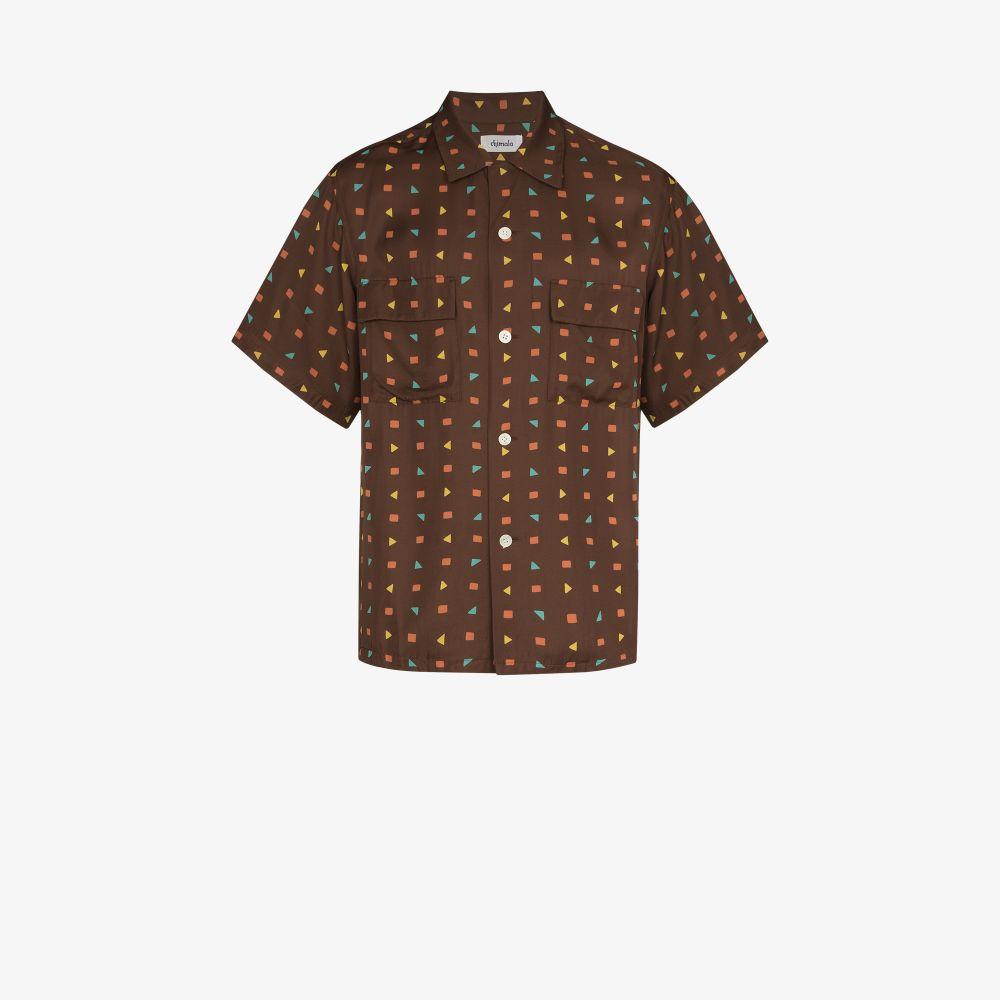 Geometric Print Short Sleeve Shirt