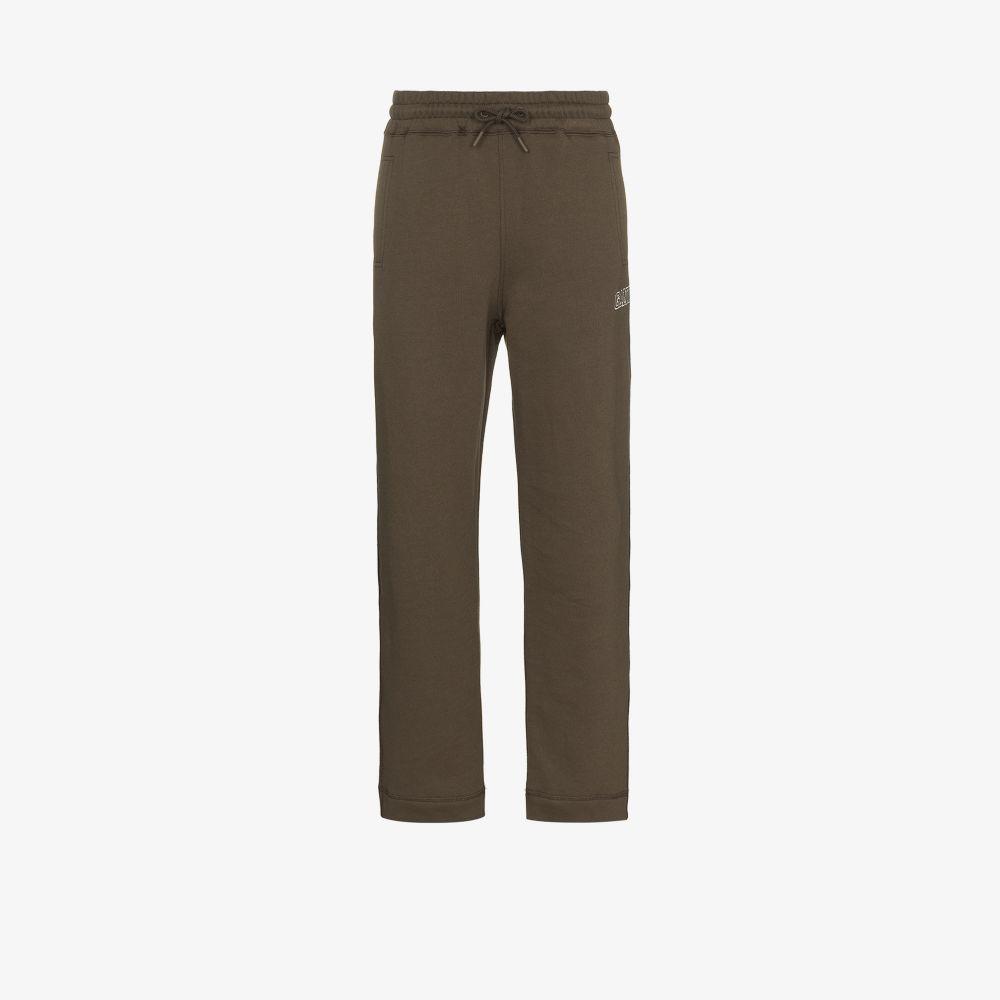 Ganni Pants GREEN SOFTWARE ISOLI STRAIGHT LEG SWEATPANTS