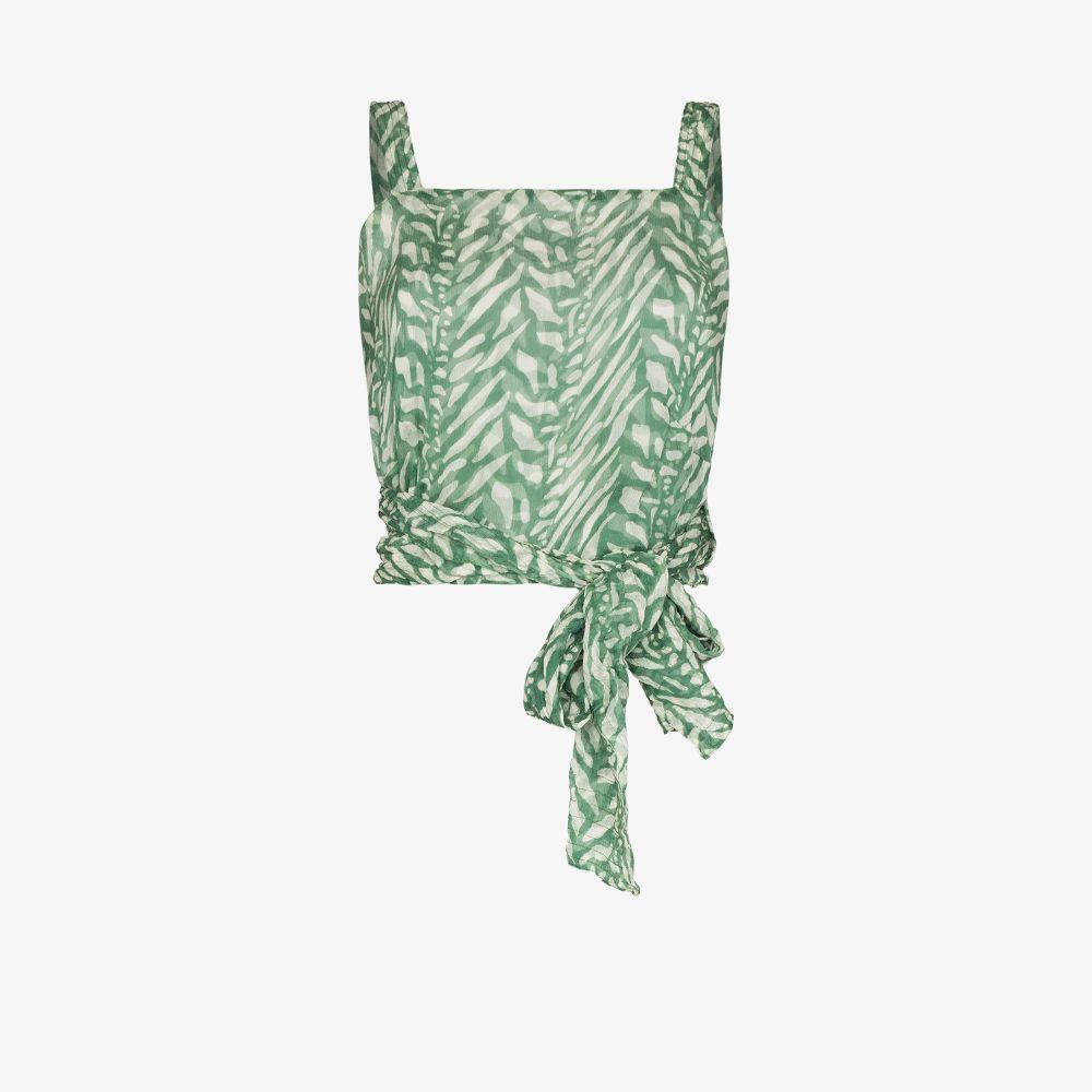 Helena Tiger Print Silk Top