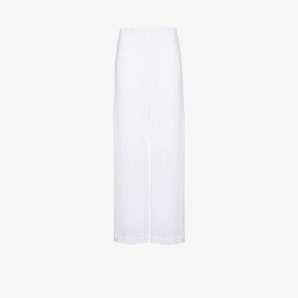 Coco Wide Leg Cotton Trousers