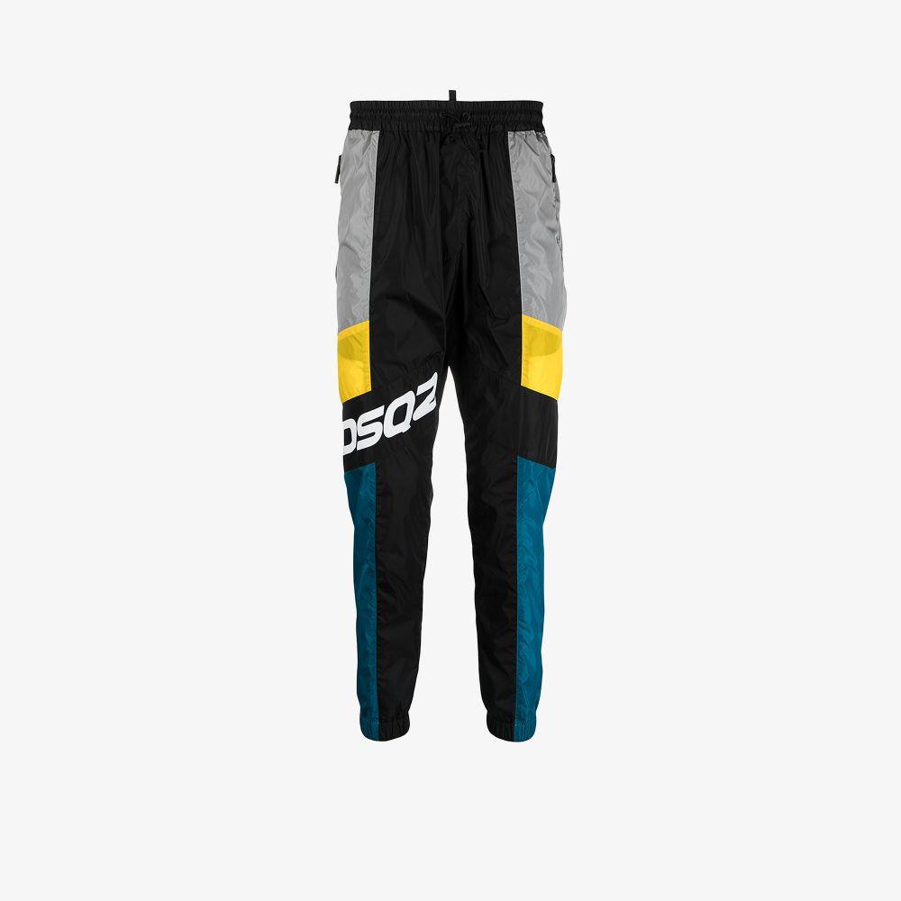 Dsquared2 Clothing BLACK COLOUR BLOCK TRACK PANTS