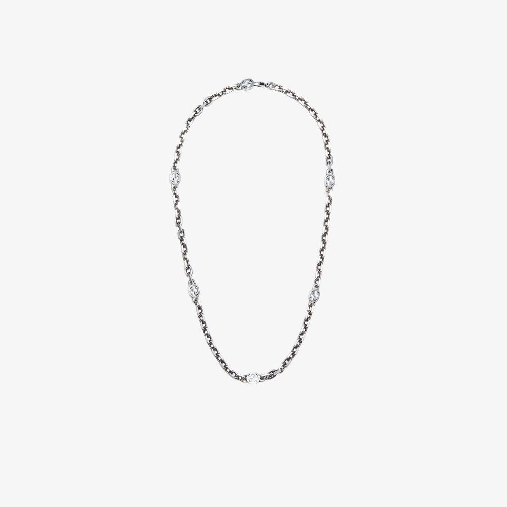 Gucci Sterling Silver Interlocking G Necklace