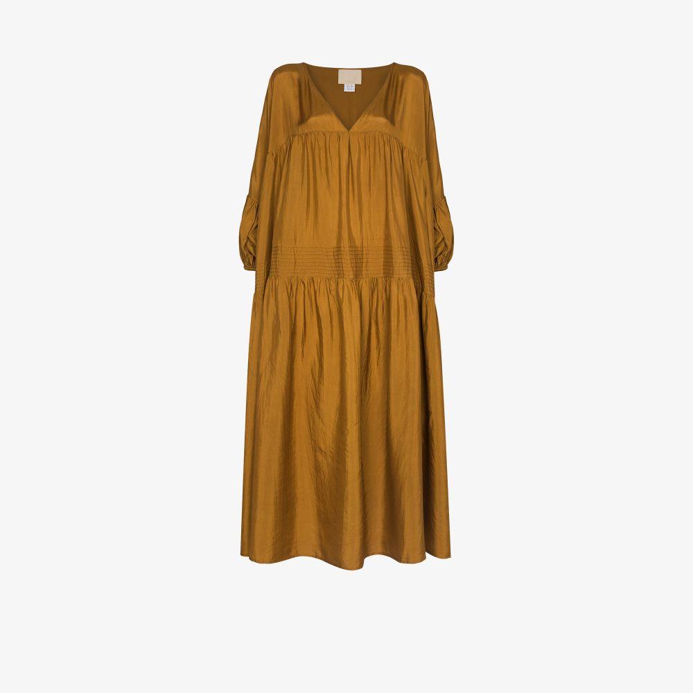 Airi Tiered Silk Maxi Dress