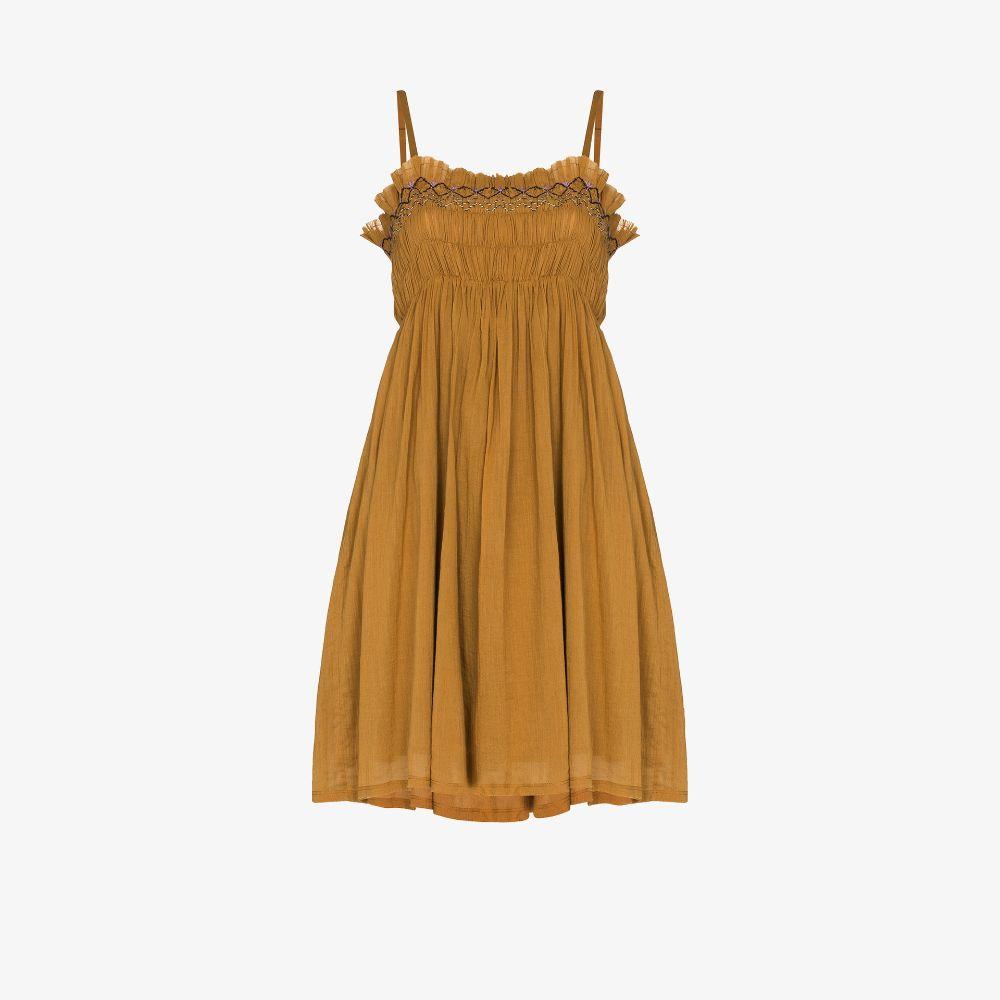 Rosa Embroidered Smocked Mini Dress