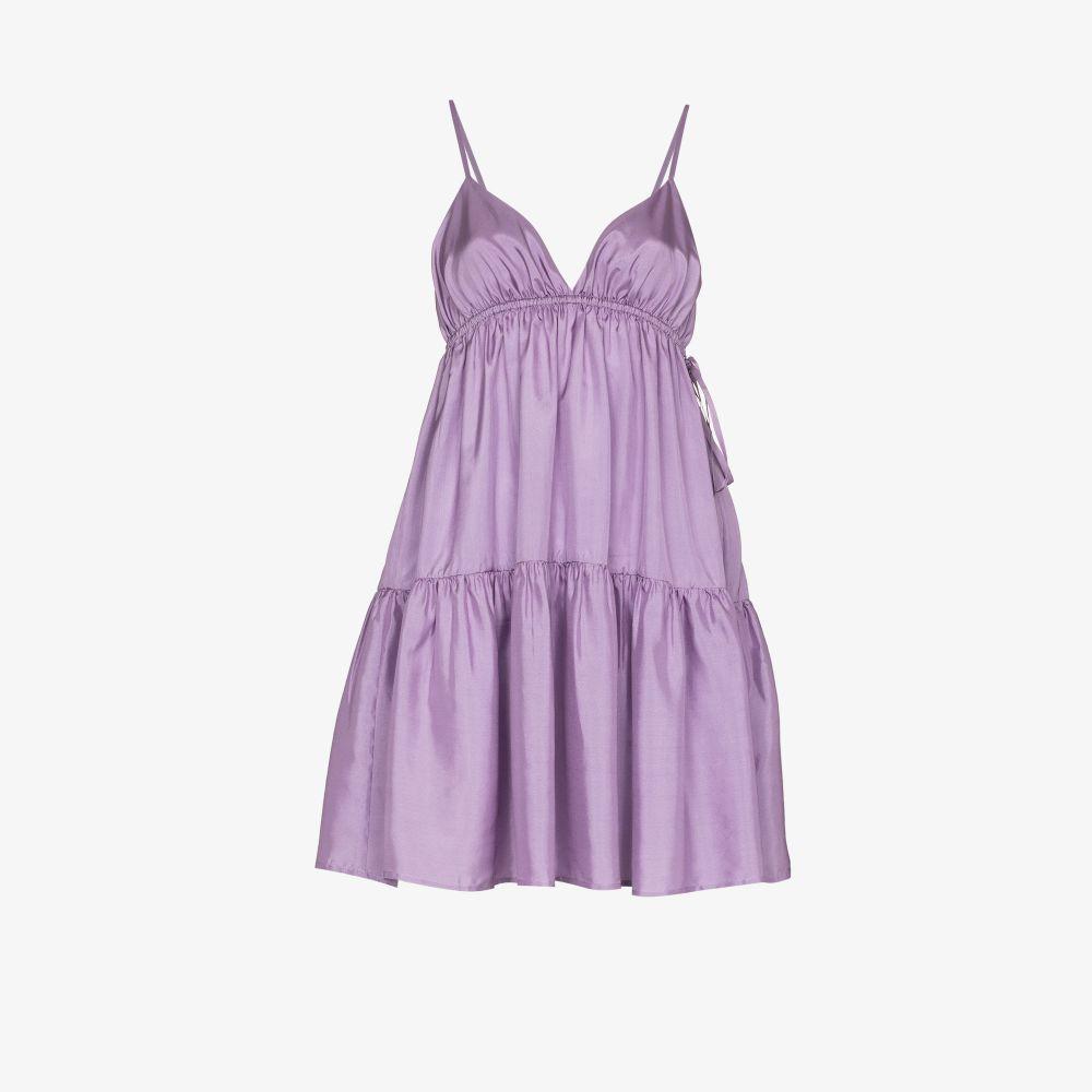 Josephine Tiered Silk Mini Dress