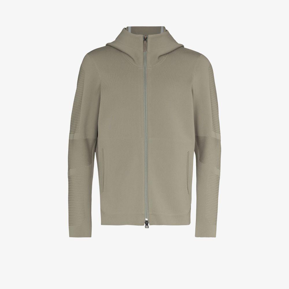 Green Crescent FusionKnit Hooded Jacket
