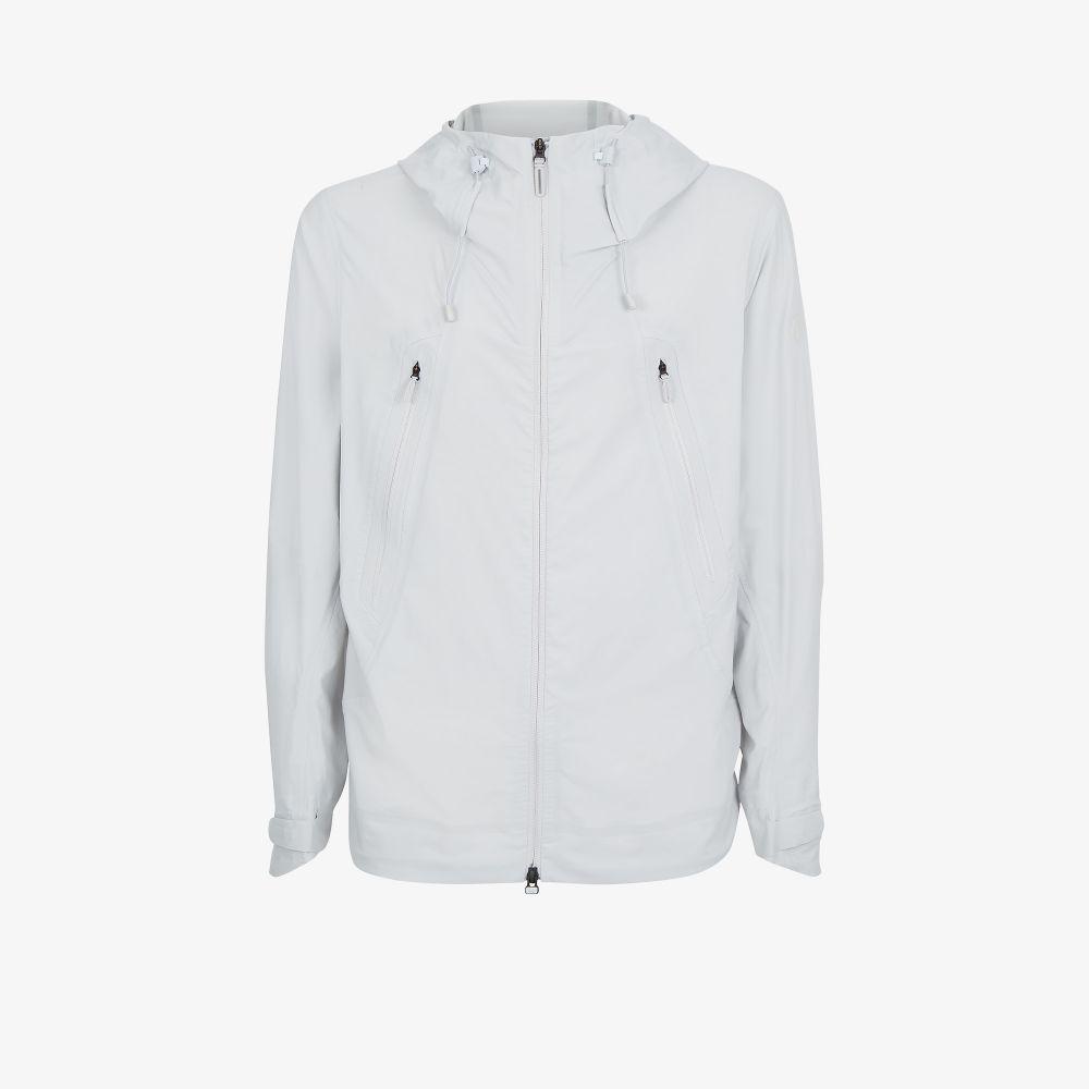 Grey Schematech Hooded Jacket
