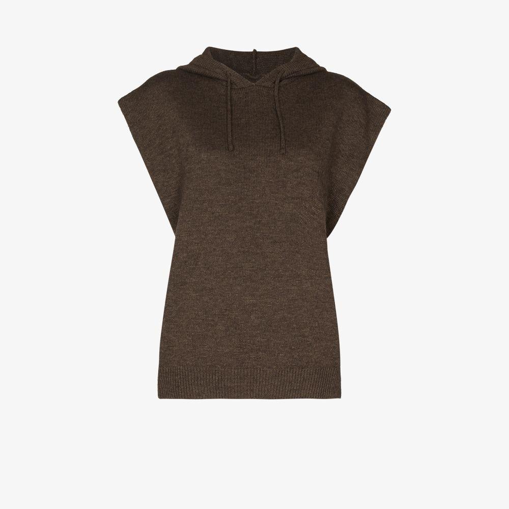 Juno Sleeveless Knitted Hoodie