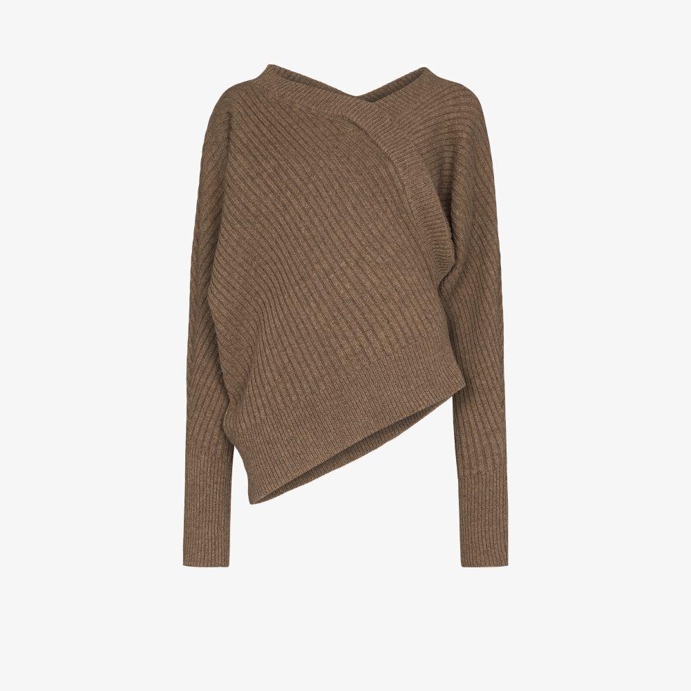 Unbalance Asymmetric Ribbed Sweater