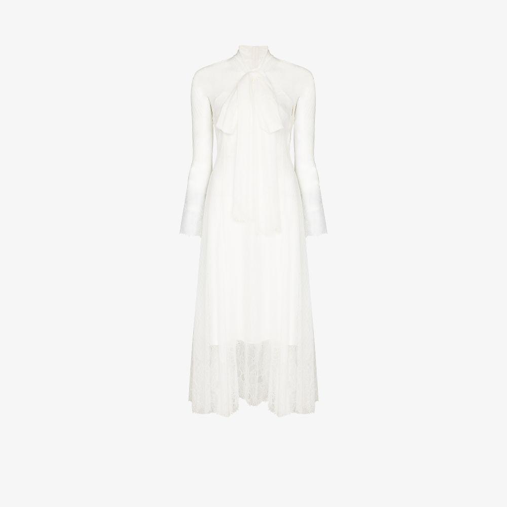 Bow Collar Lace Dress