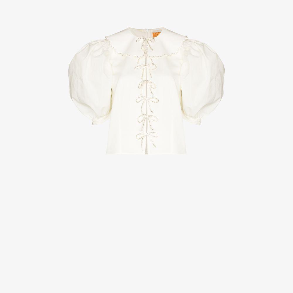 Embellished Puff Sleeve Blouse