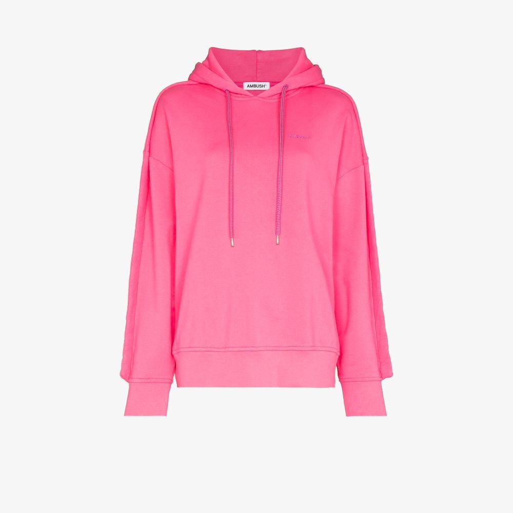 Ambush Pink Logo Cotton Hoodie