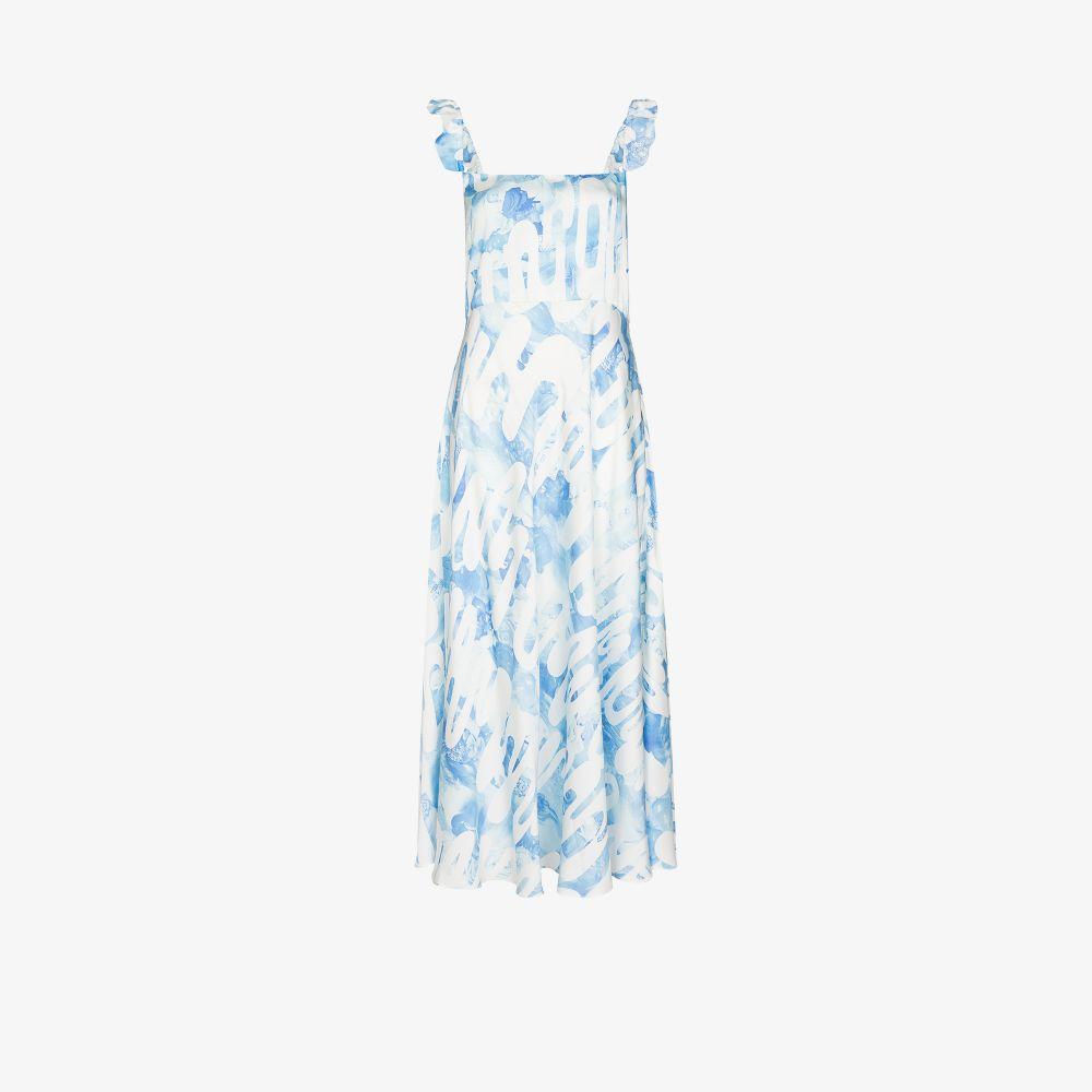 Market Ruffled Silk Midi Dress