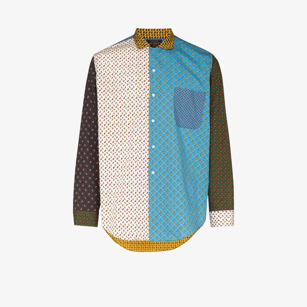 Dobby Patchwork Paisley Print Shirt