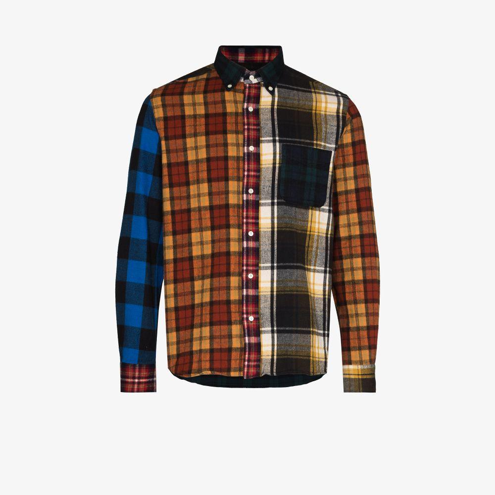 Shaggy Patchwork Check Shirt