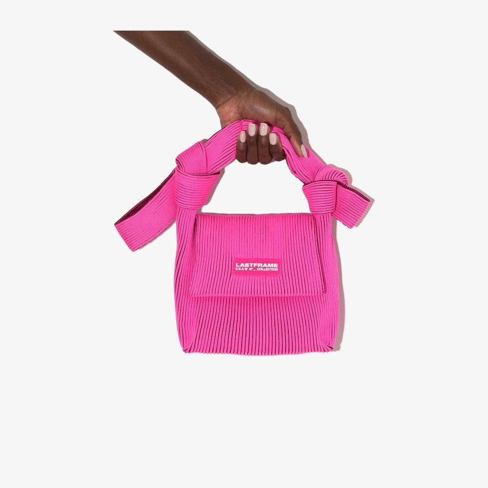 Pink And Red Obi Shoulder Bag
