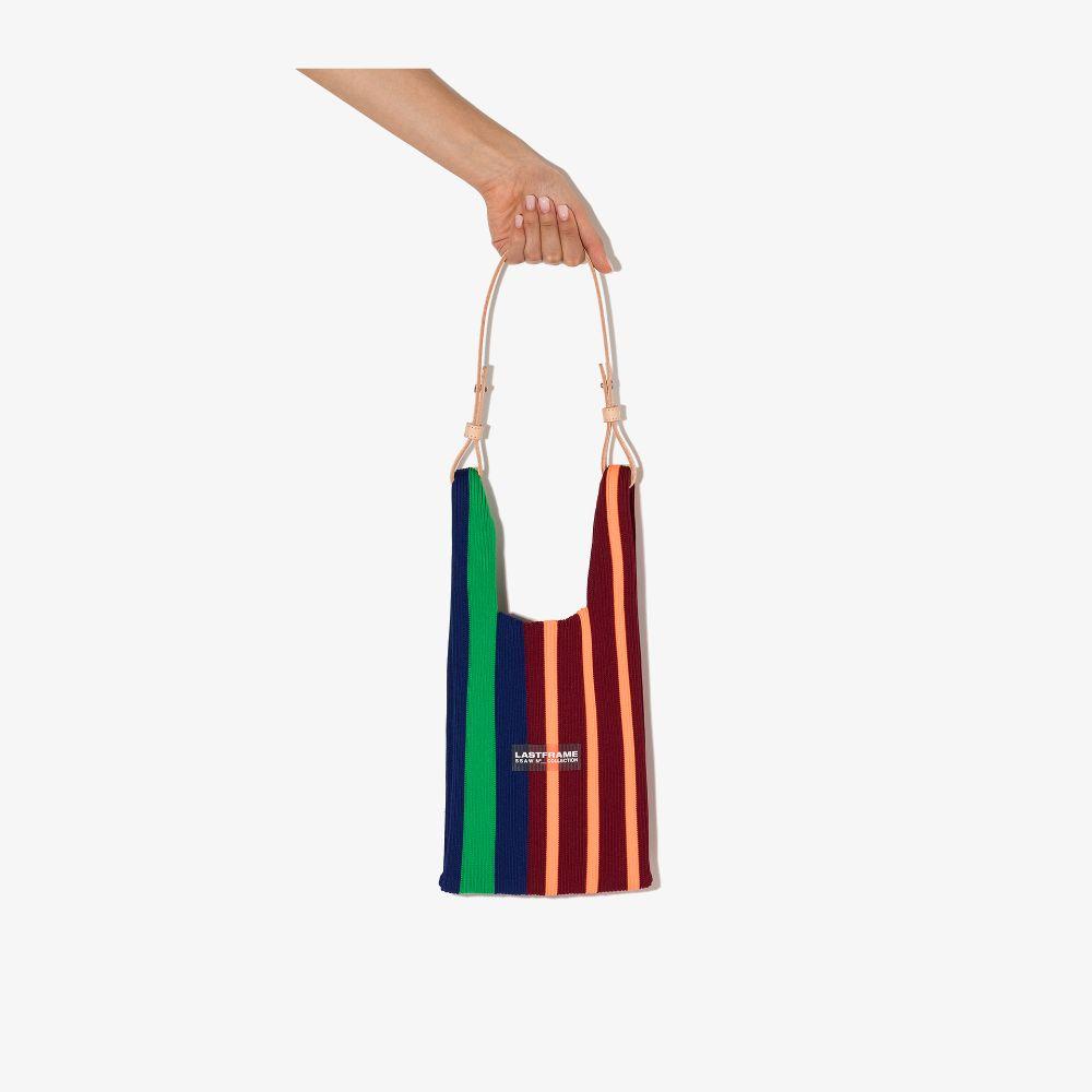 Multicoloured Small Striped Tote Bag