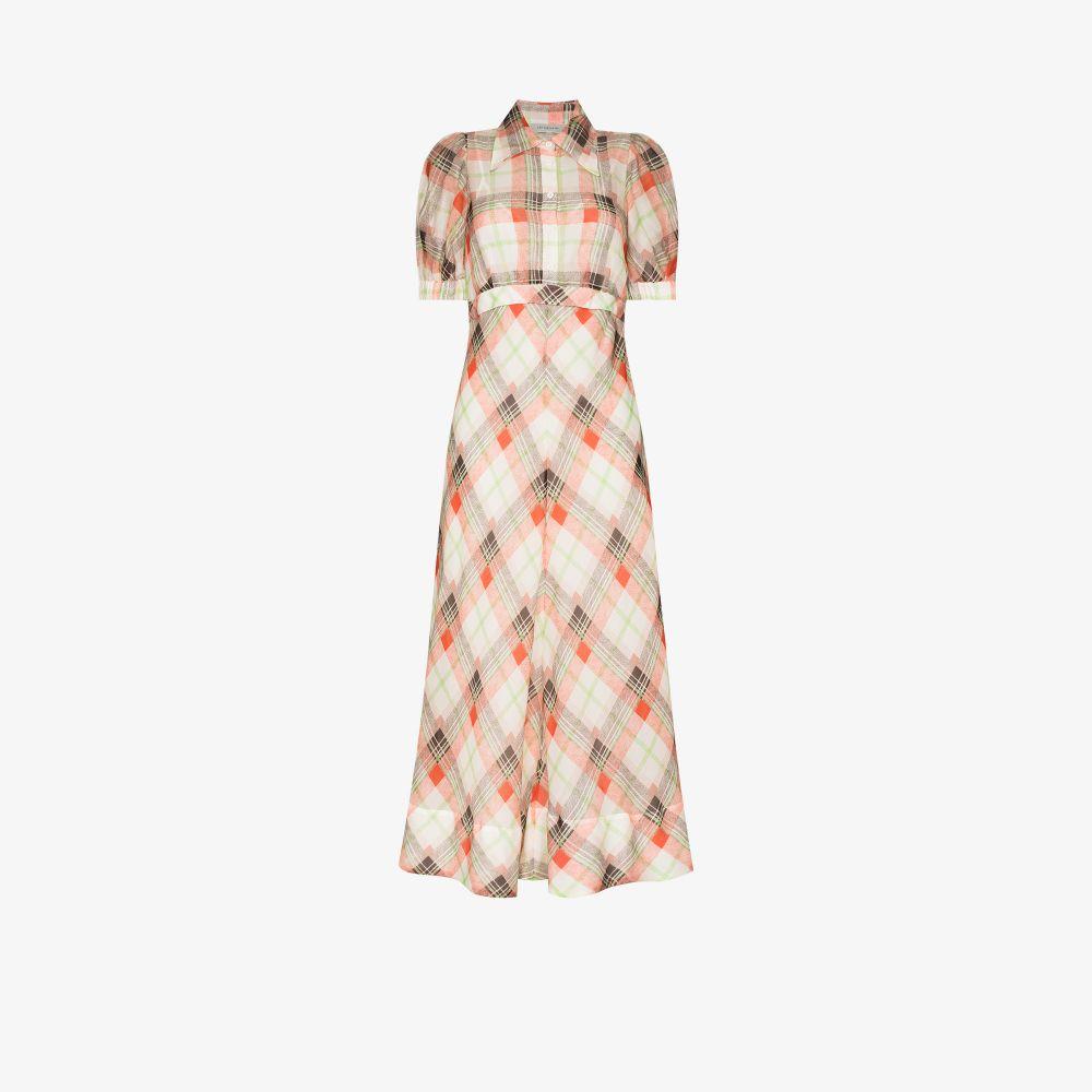 Eugenie Checked Maxi Dress