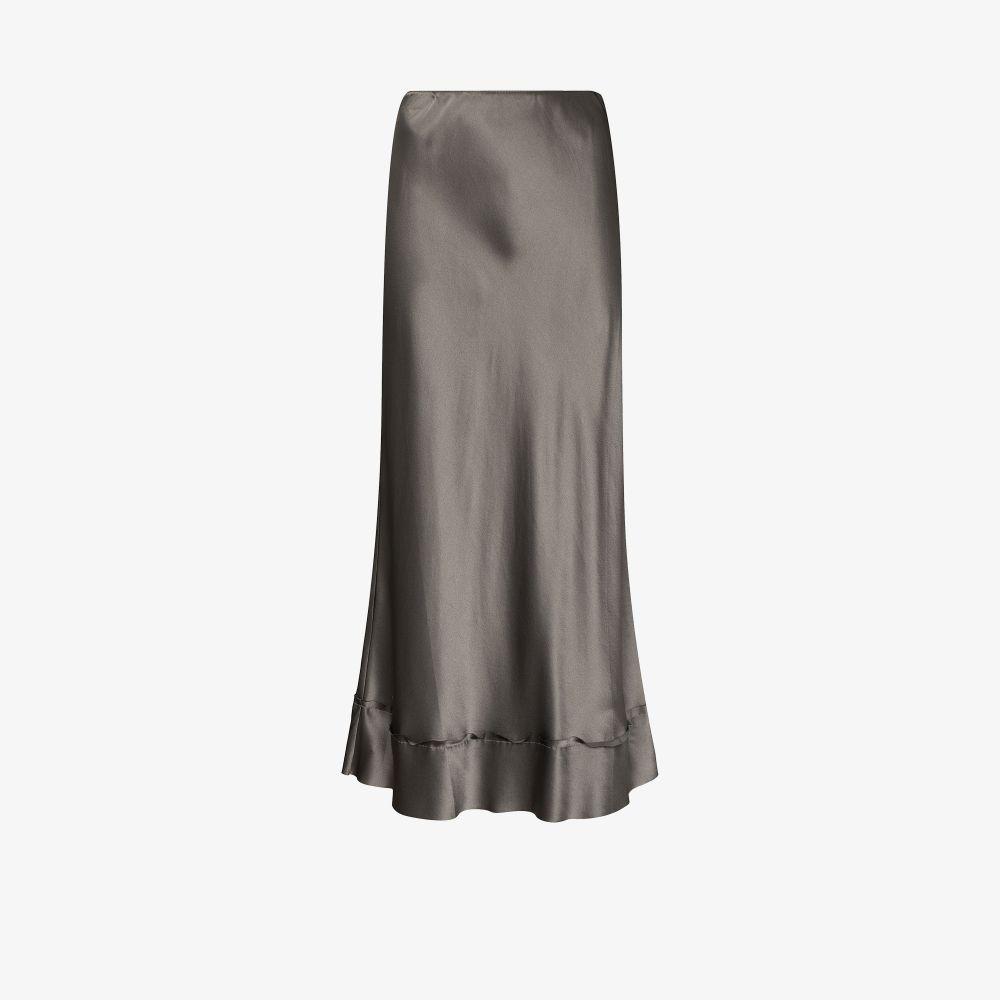 Stella Silk Midi Skirt