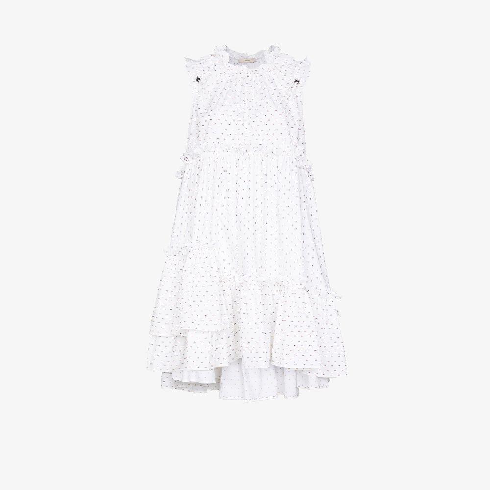 Evelyn Dot Ruffled Dress