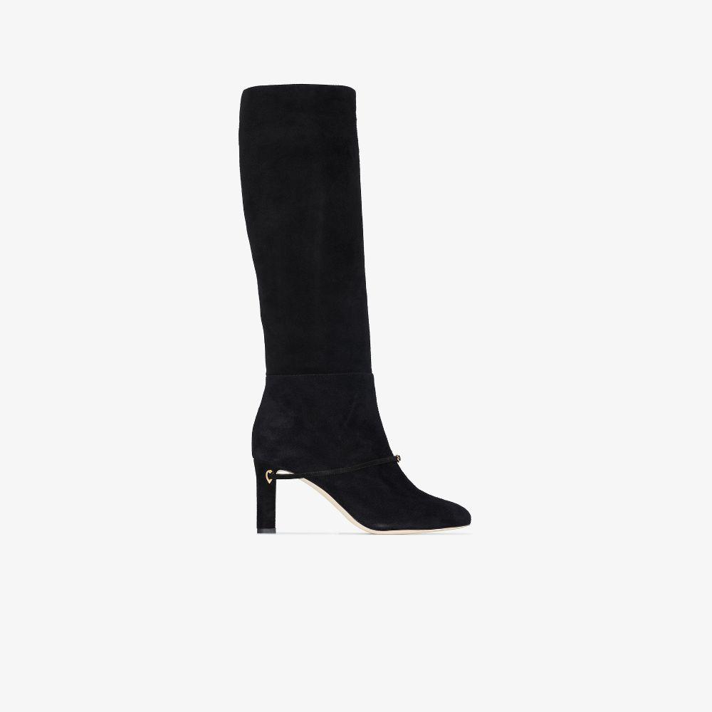 Black Saumele 85 Suede Boots