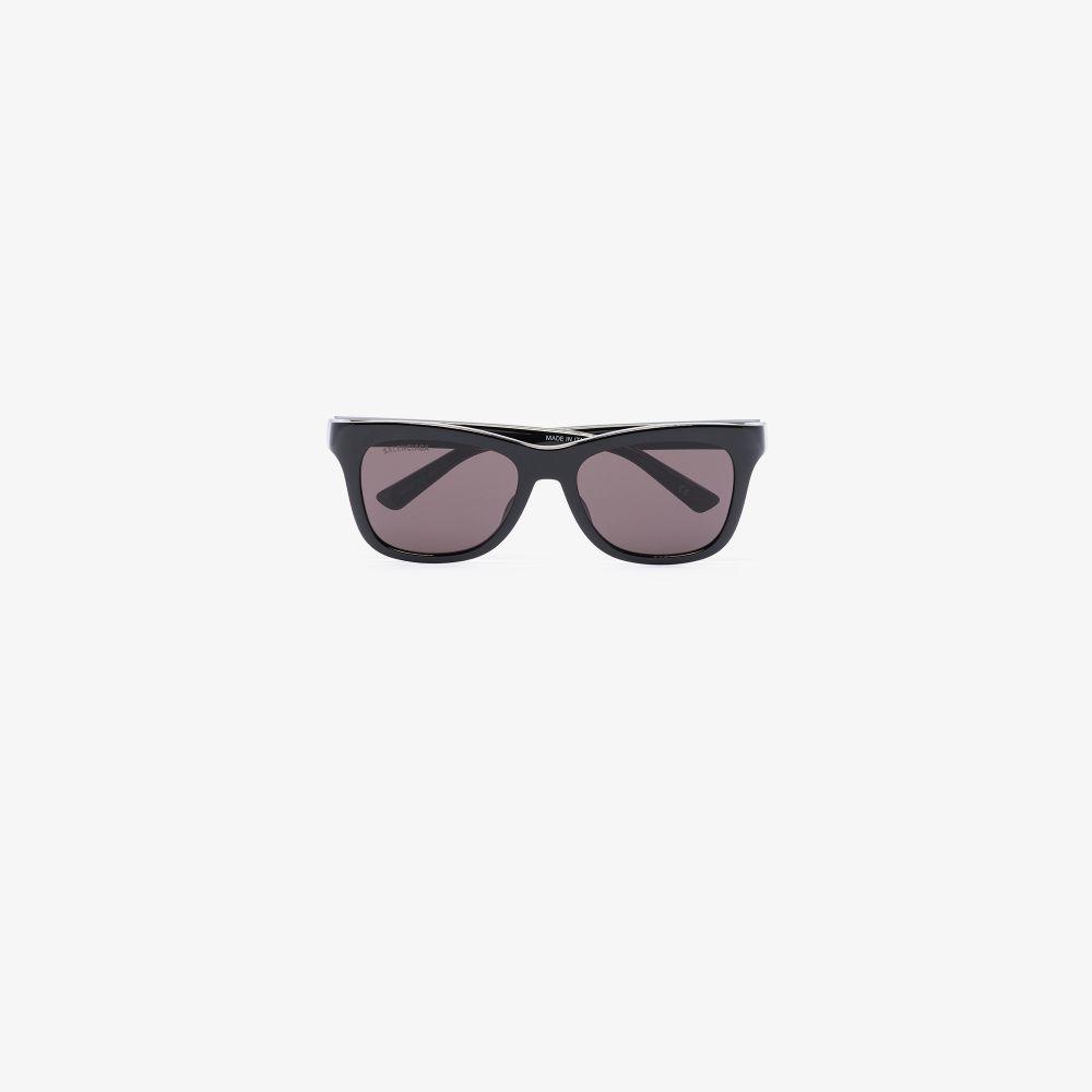 Balenciaga Black Square Frame Sunglasses