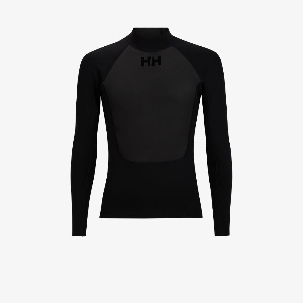 Black Waterwear Long Sleeve Top