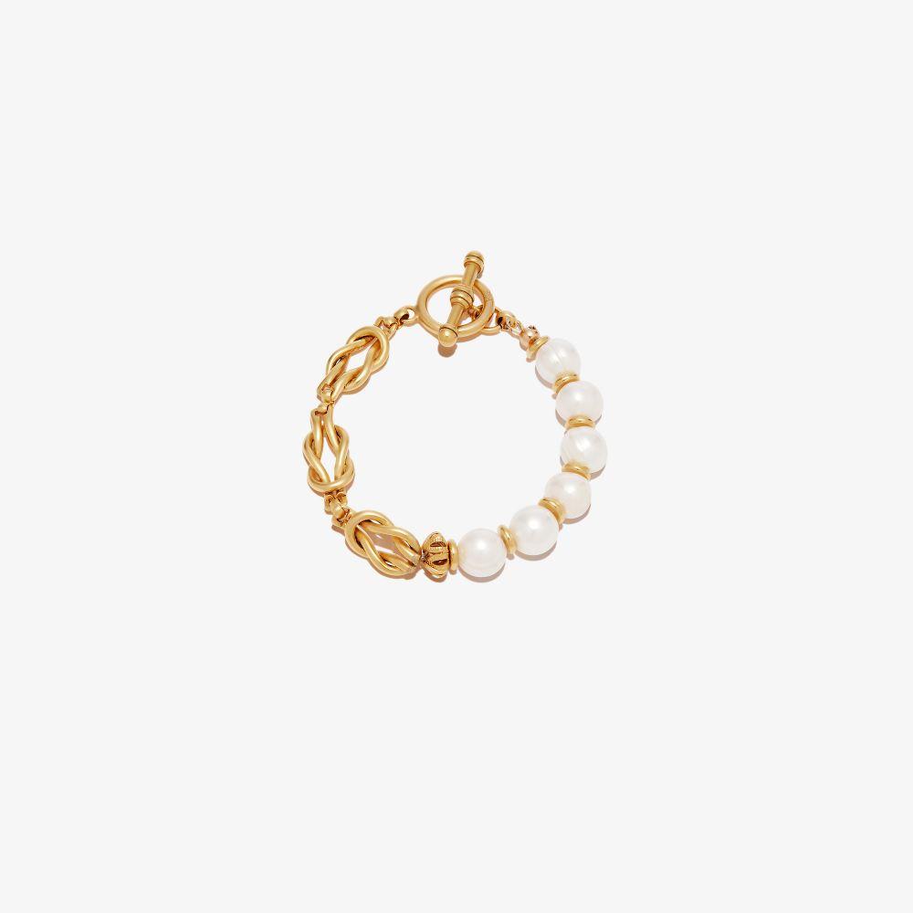 Gold-Plated Spencer Pearl Bracelet