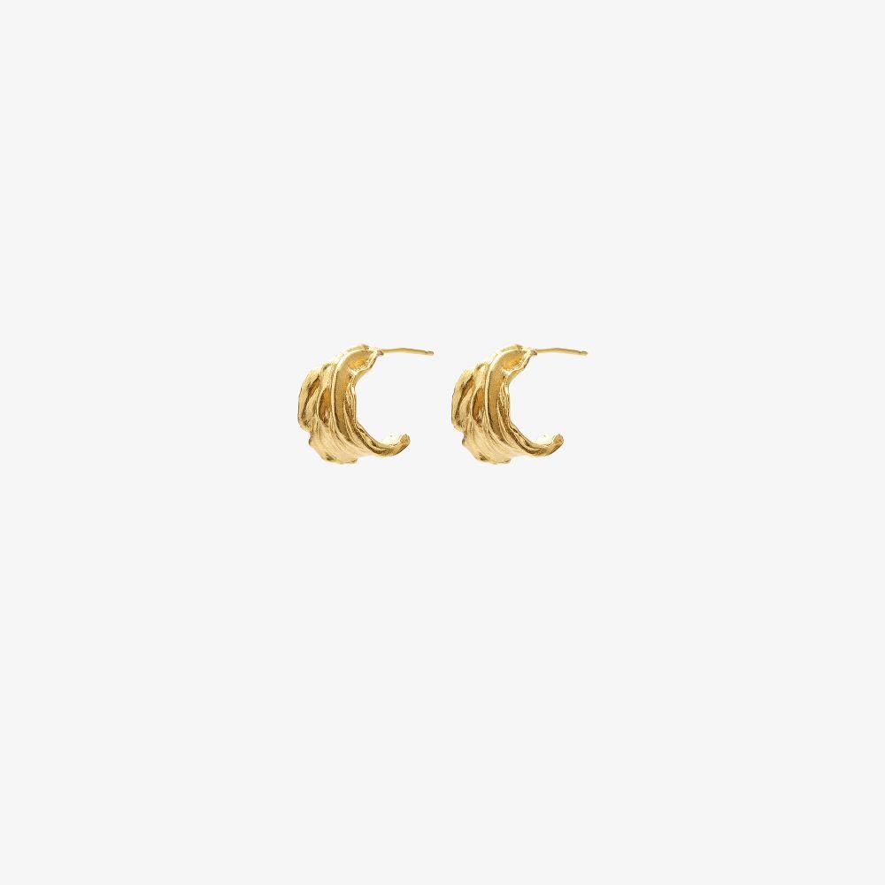 Gold-Plated Ripcurl Hoop Earrings