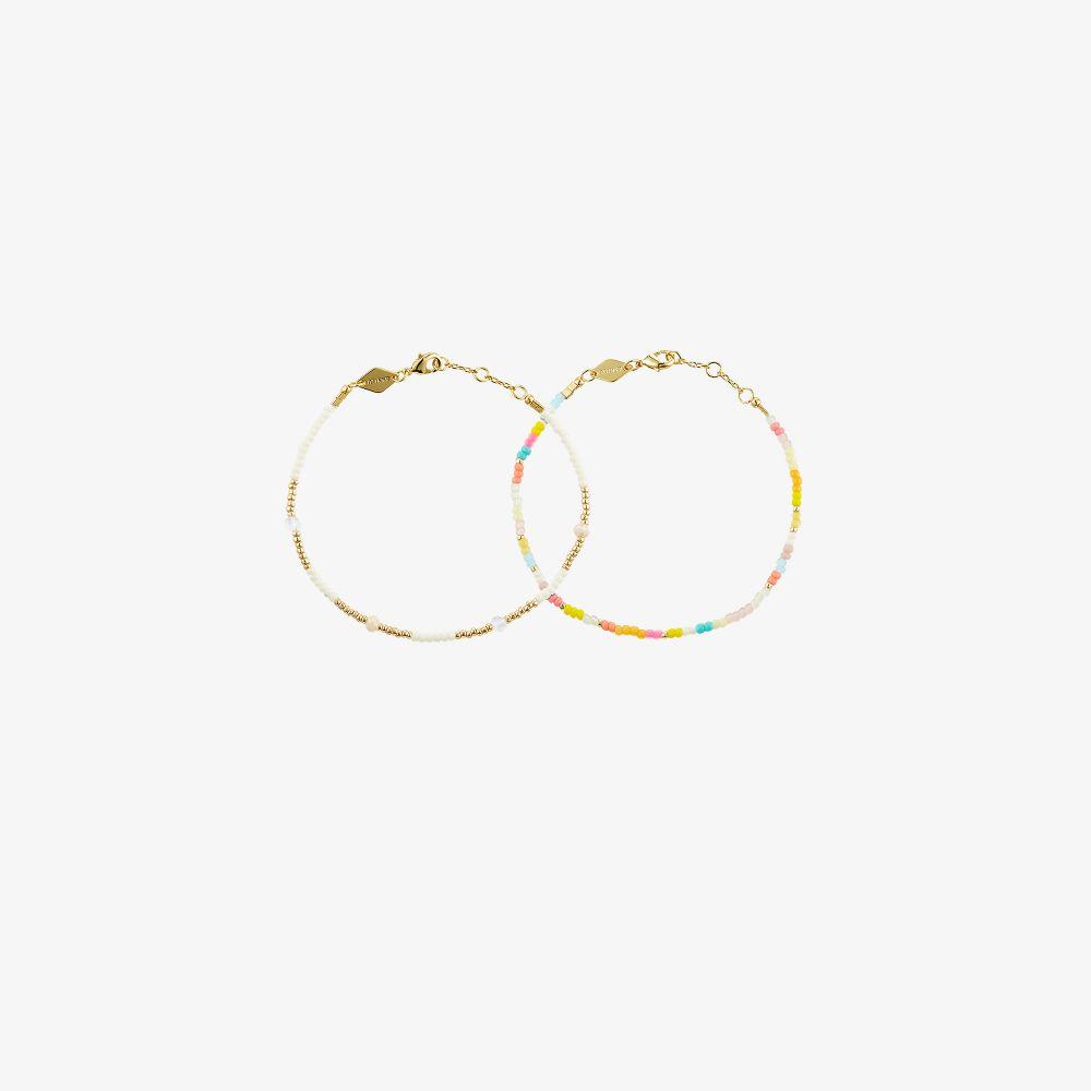 Gold-Plated Candy Eldorado Beaded Bracelet Set