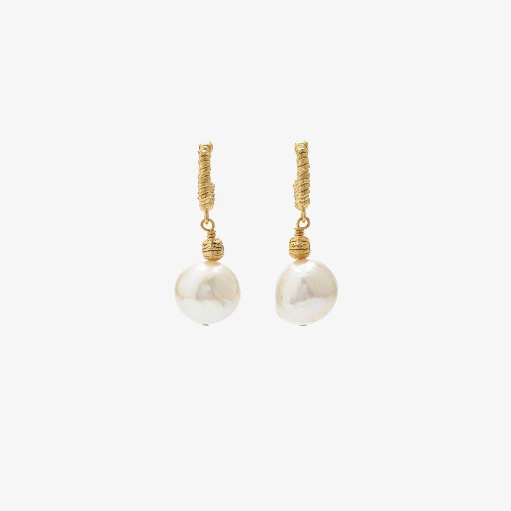 Gold-Plated Fruit D'Or Hoop Earrings