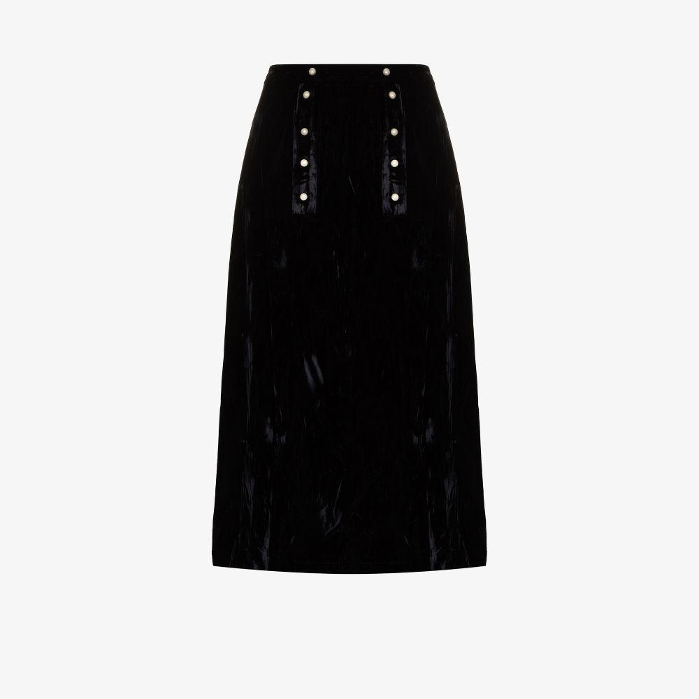 Suffrage Velvet Midi Skirt