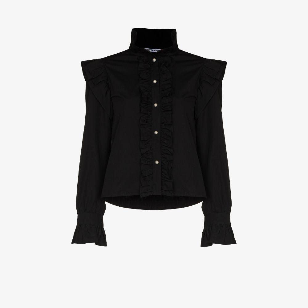 Claude Ruffle Cotton Shirt