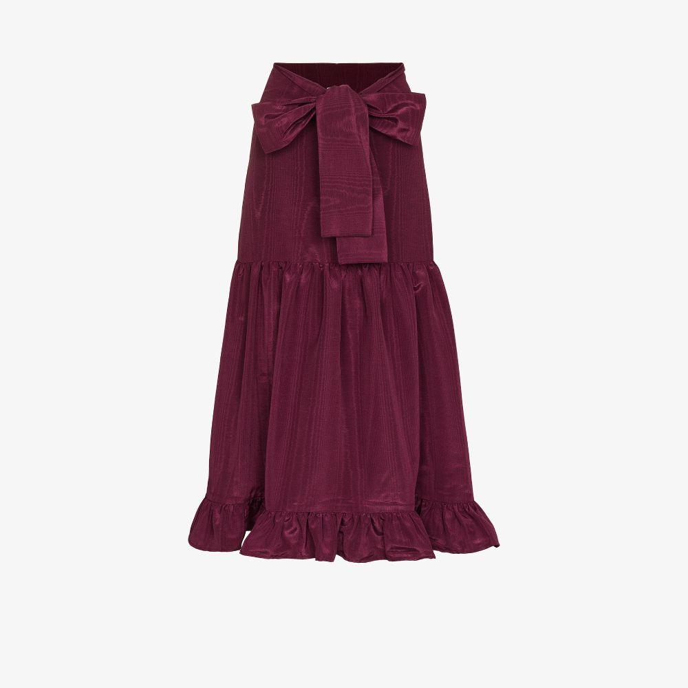 Natasha Ruffled Midi Skirt