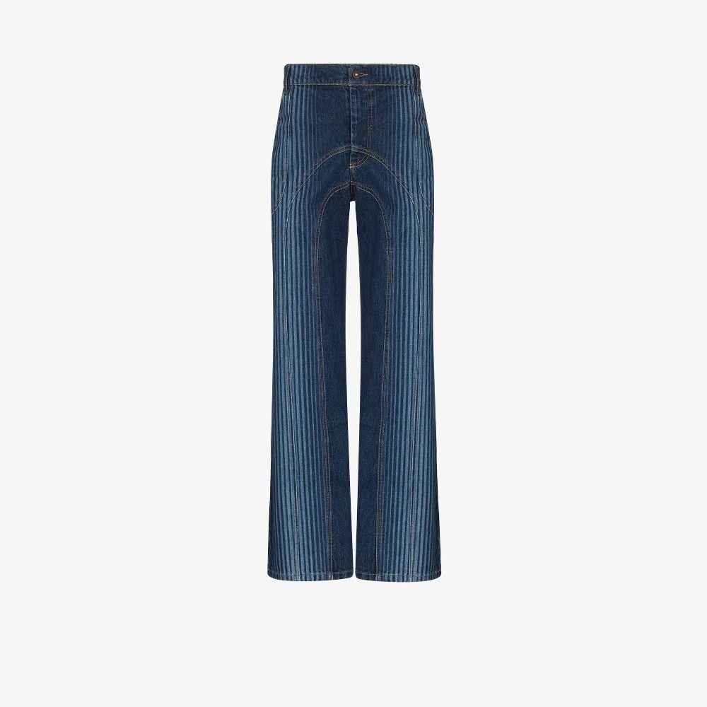 Striped Straight Leg Jeans