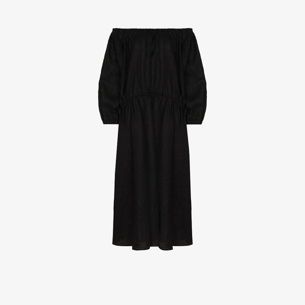 Stonewashed Off-The-Shoulder Dress