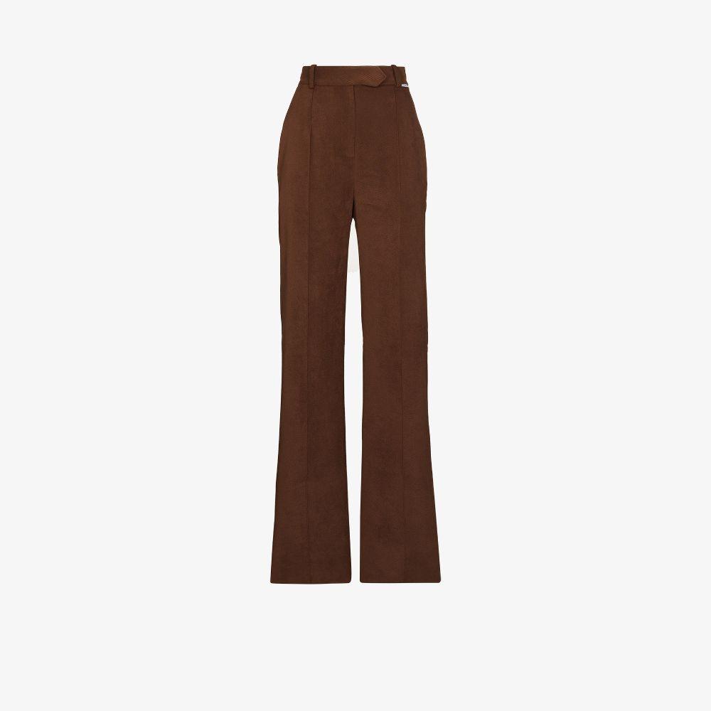High Waist Cotton Trousers