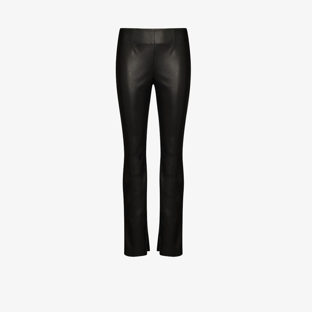 Slim Leg Faux Leather Trousers