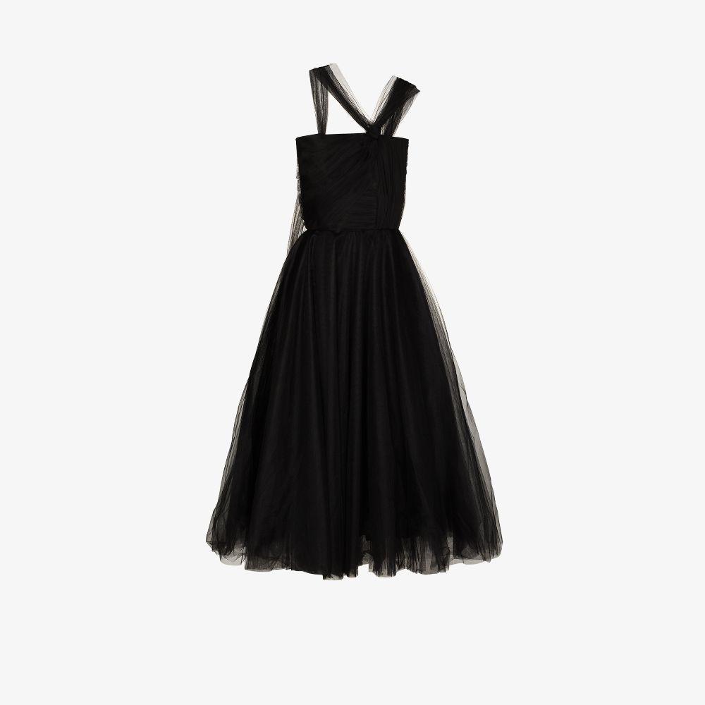 Asymmetric Corset Tulle Dress