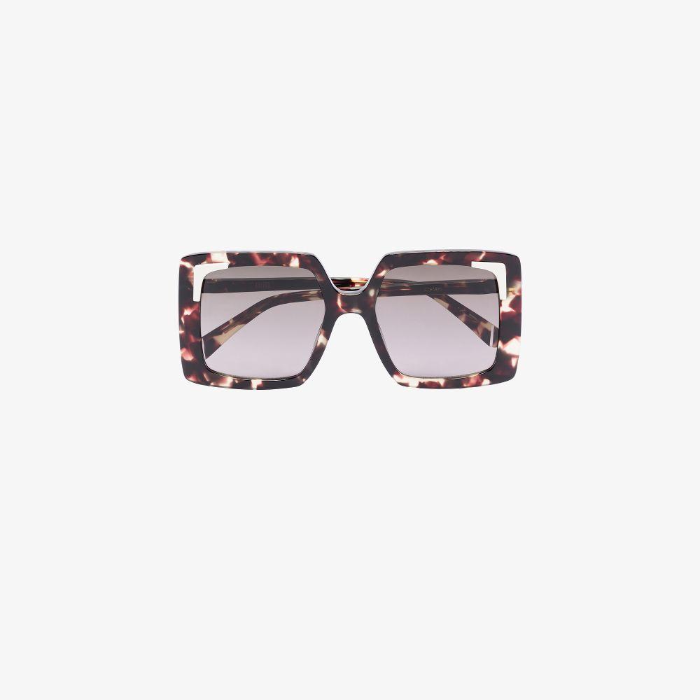 Brown Creasey Oversized Sunglasses