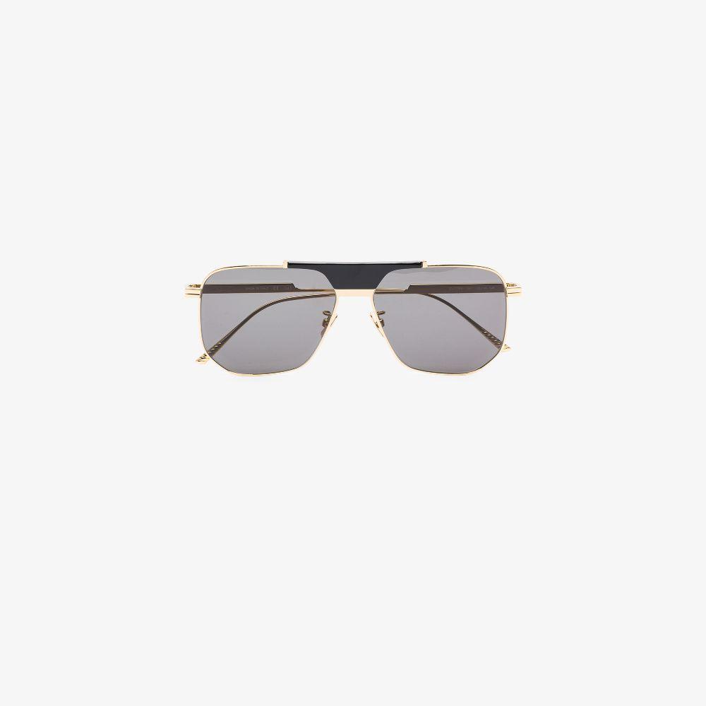 Bottega Veneta Eyewear In 001 Gold-gold-grey