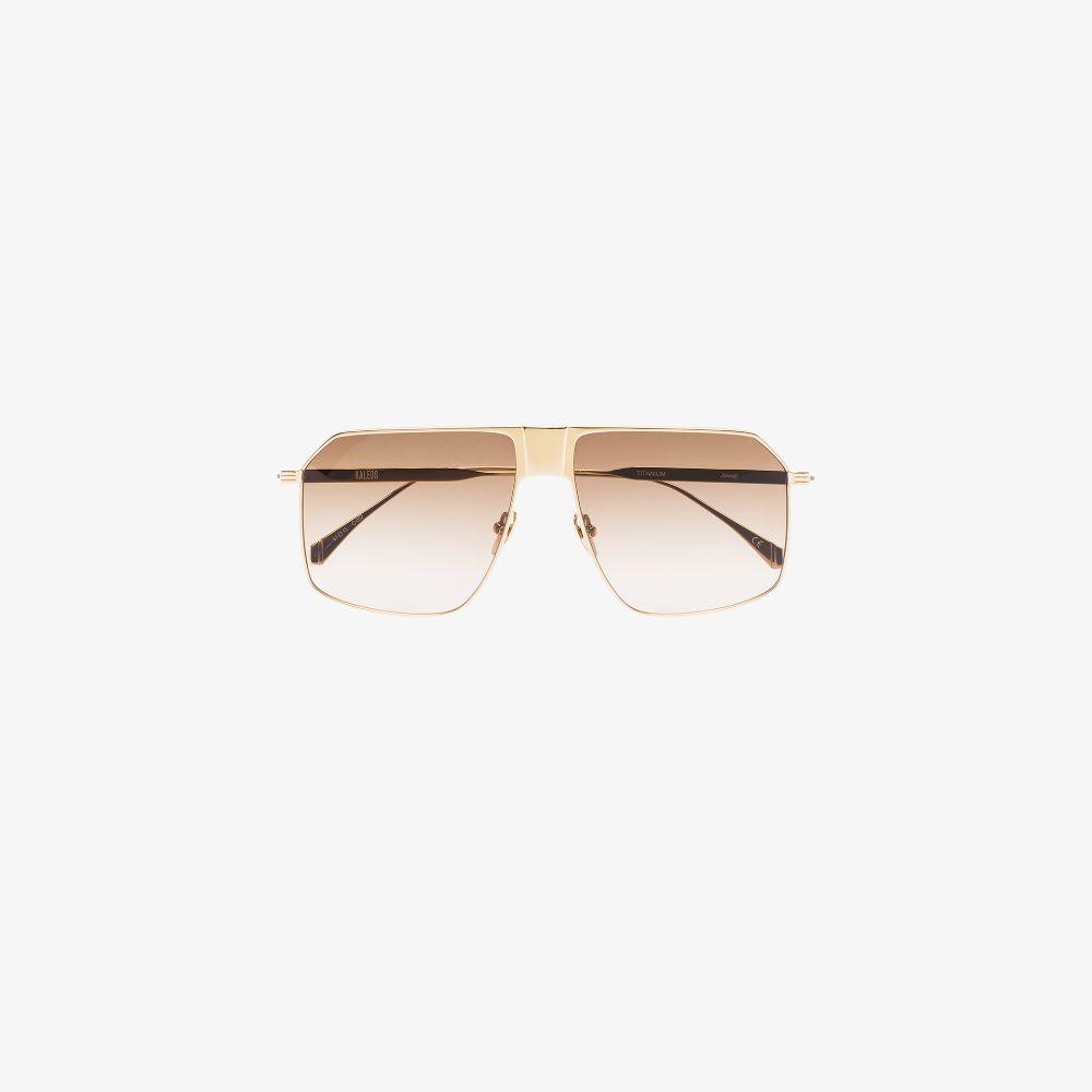 Gold Tone Jewell 2 Aviator Sunglasses