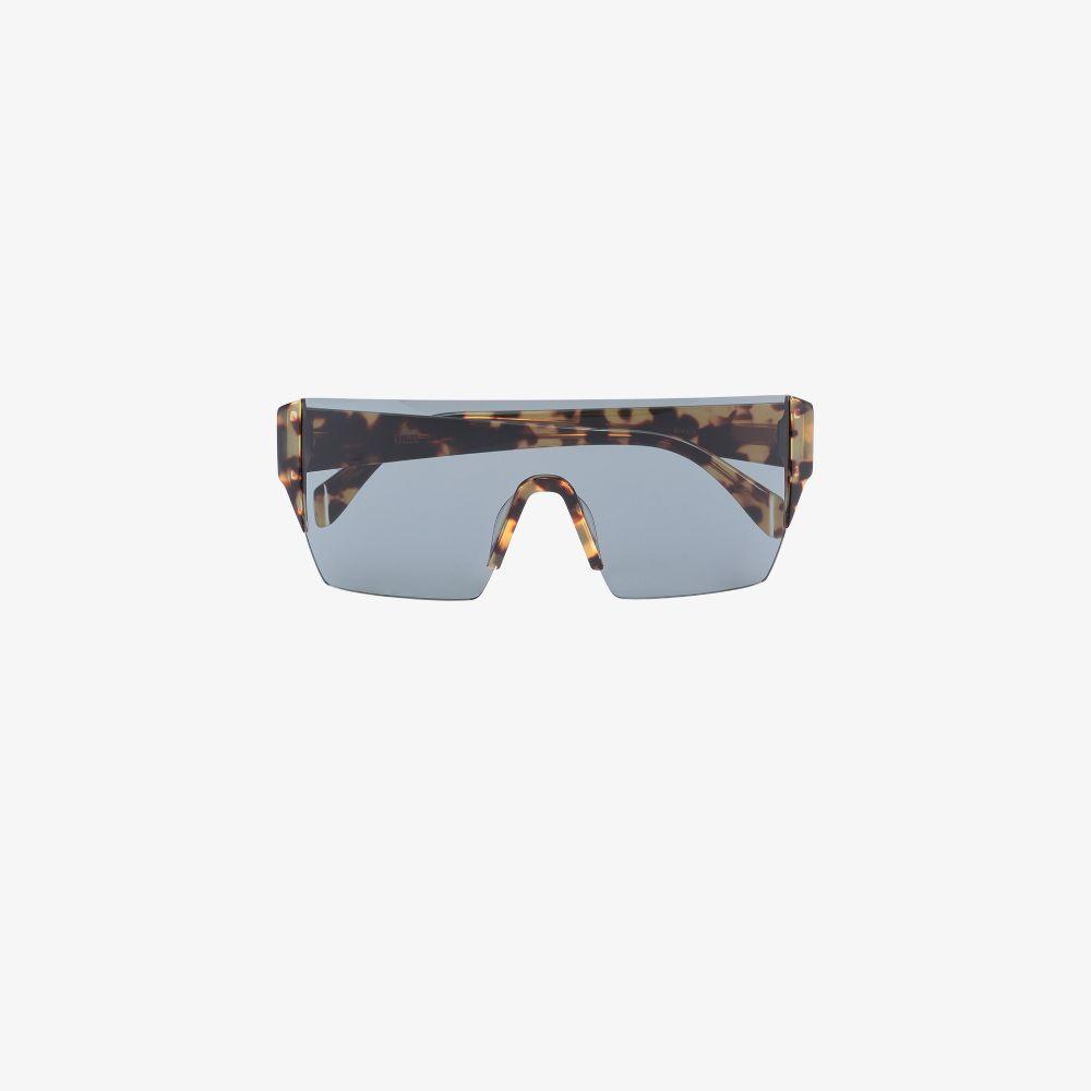 Brown Bickle Frameless Sunglasses