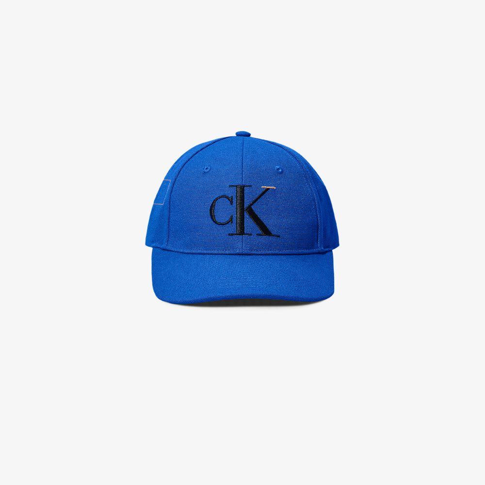 Blue Logo Embroidered Baseball Cap