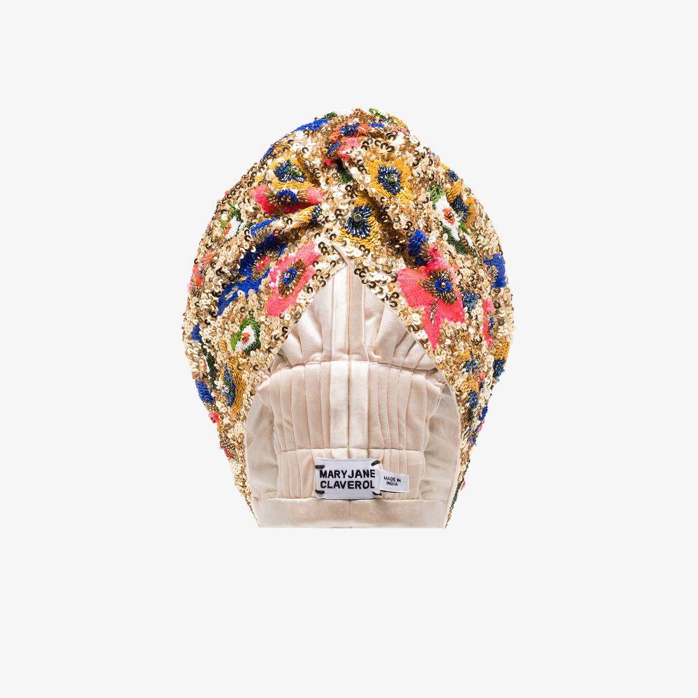 Gold Tone Macarena Sequinned Turban