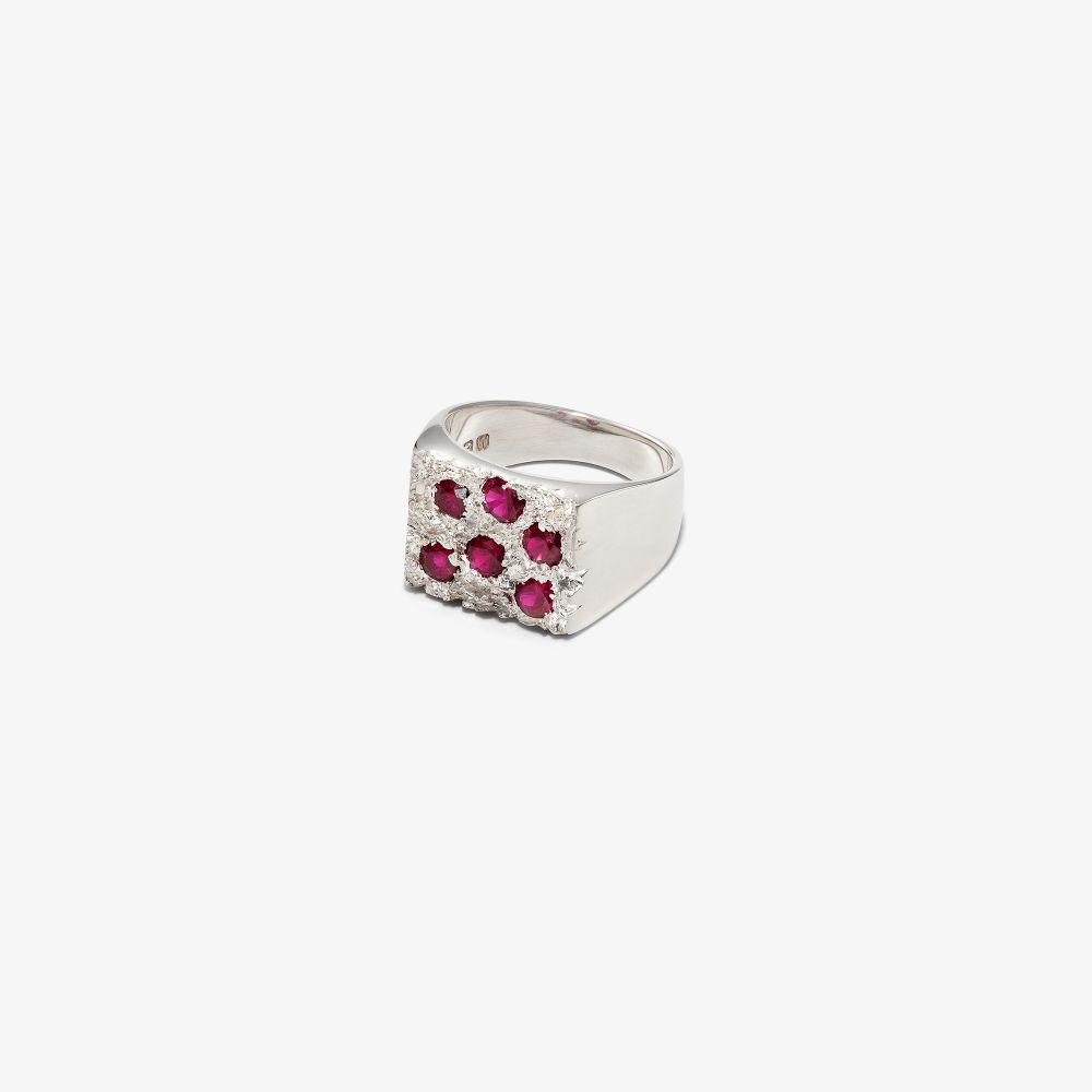 Sterling Silver Grand Rose Garden Sapphire Signet Ring