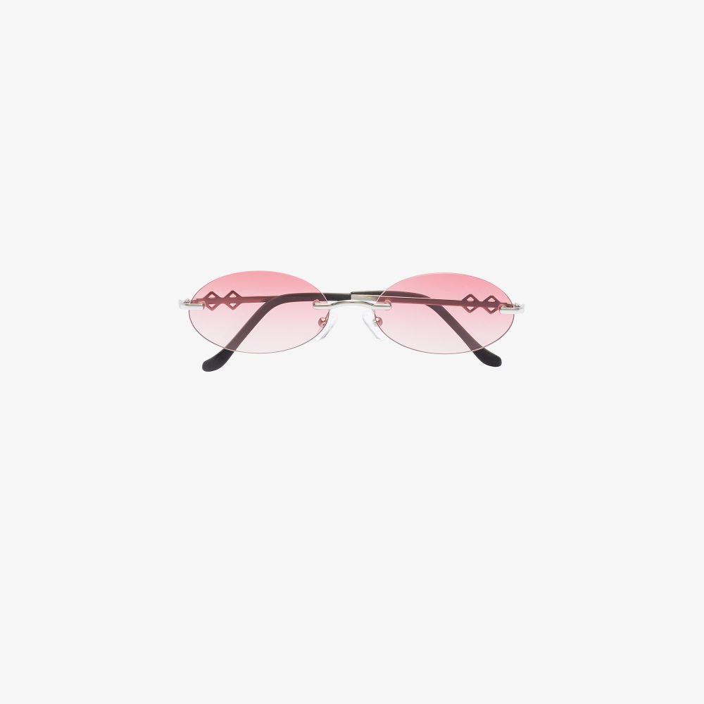 Red Vicky Oval Ombré Sunglasses