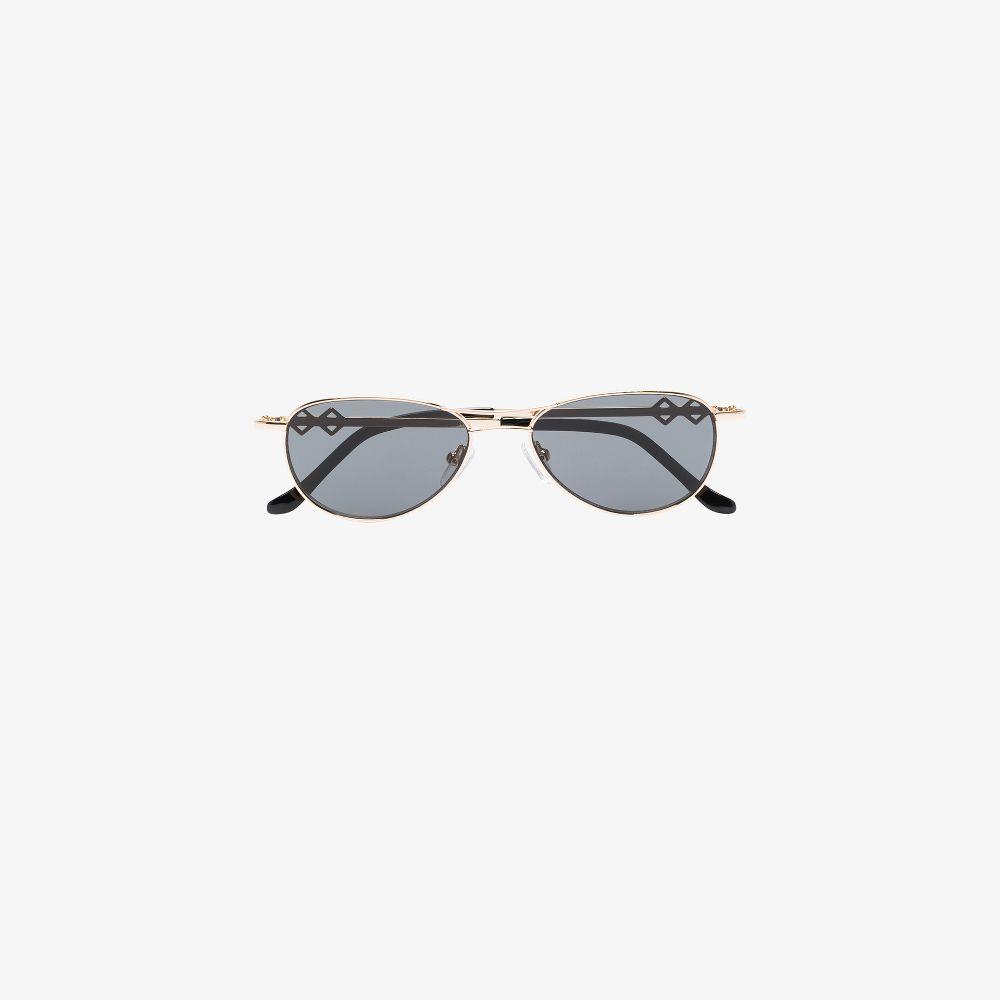 Black Jen Aviator Sunglasses