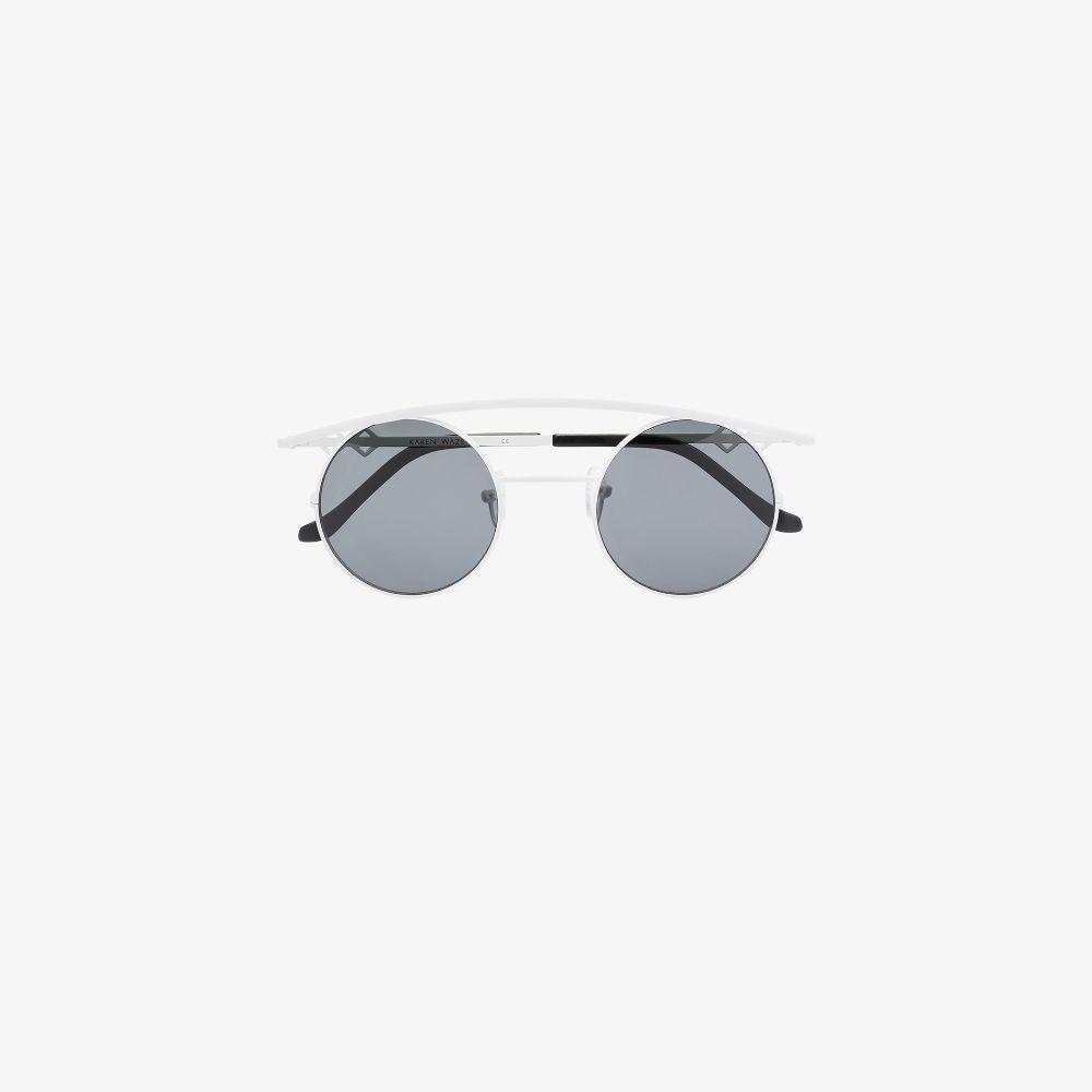 White Retro's XL Round Sunglasses